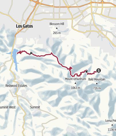 Map / Sierra Azul Open Space Preserve DayHike