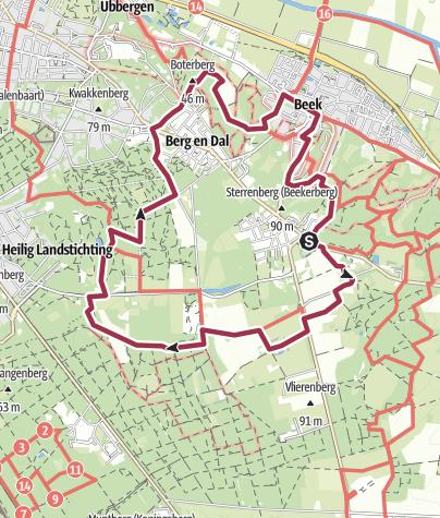 Map / Door Berg en Dal