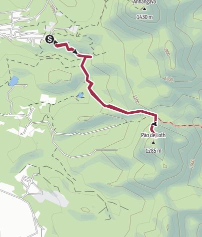 Map / Caminho do Itupava até Pão de Loth