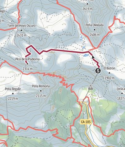Map / Fuente Dé (el cable)- La Padiorna