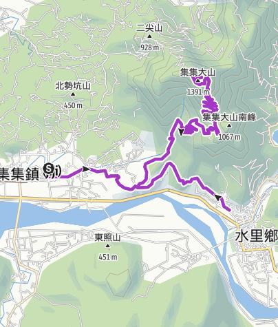 Map / 自助超馬團隊 集集大山超級馬拉松