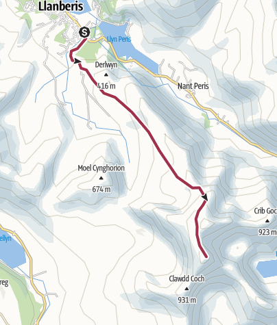 Map / Snowdon - National Three Peaks