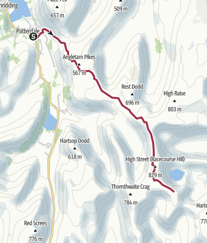 Map / patterdale - mardale Ill bell