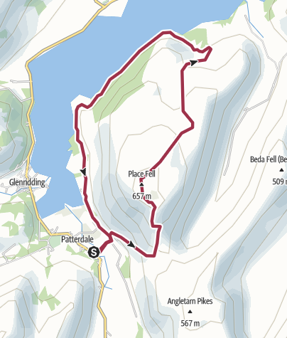 Map / Patterdale-Place Fell - Ullswater round