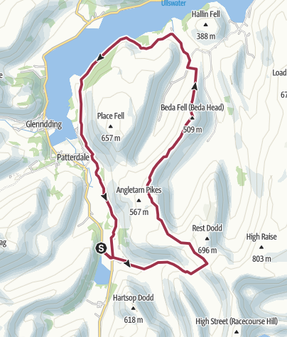 Map / Hartsop-Angle tarn-Beda fell-martindale-hartsop