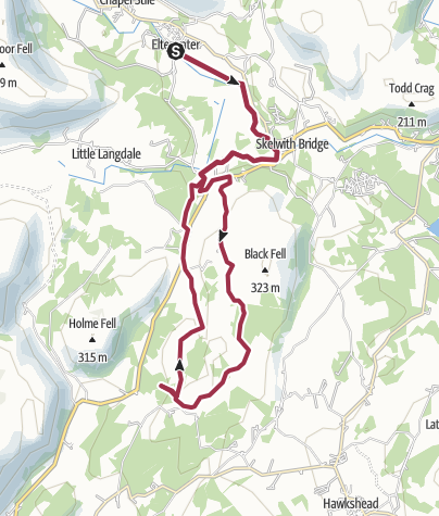Map / Elterwater-Tarn Hows-Elterwater