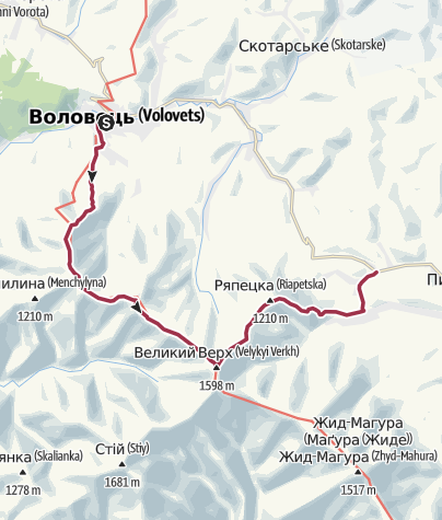 Map / Воловець - Подобовець