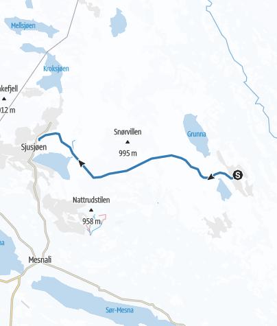 Map / Ljøsheim-Sjusjøen