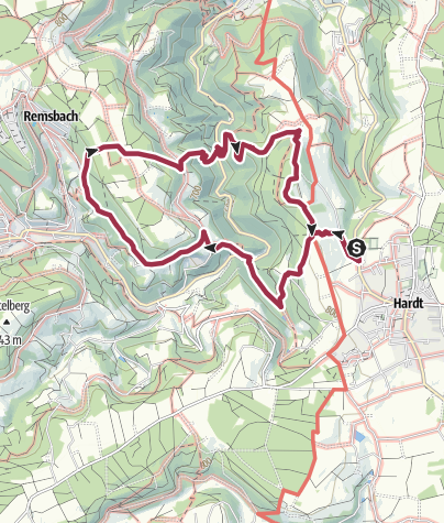 Karte / Paradiestour Katzenpfad