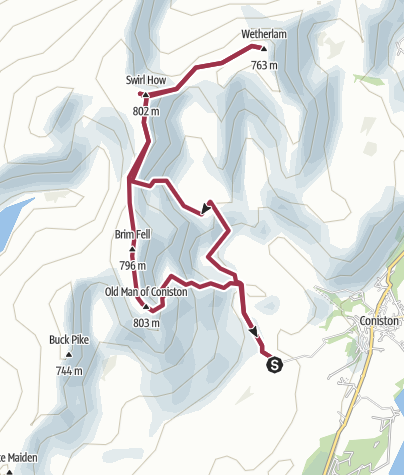 Map / Coniston old man wild camp