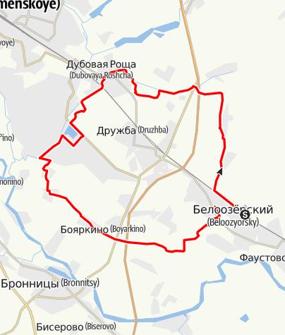 Map / Белоозерский-Бояркино