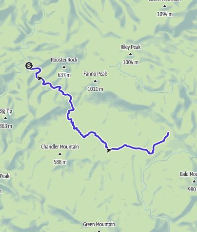 Map / South Fork Siletz River, Apr 2, 2015