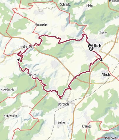 Karte / Säubrennerroute