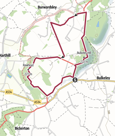 Map / Bulkeley Hill and Rawhead