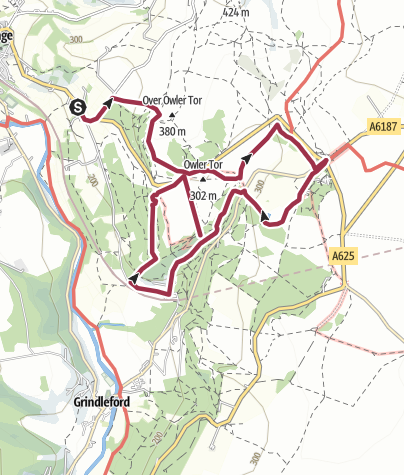 Map / Millstone-Longshaw-Padley Gorge-Bolehill Quarry