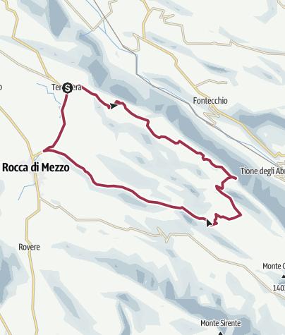 Map / Anello Terranera - Pagliare - Rocca di Mezzo