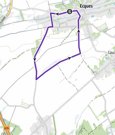 Map / CAP 4KM ECQUES Rue d'Inghem