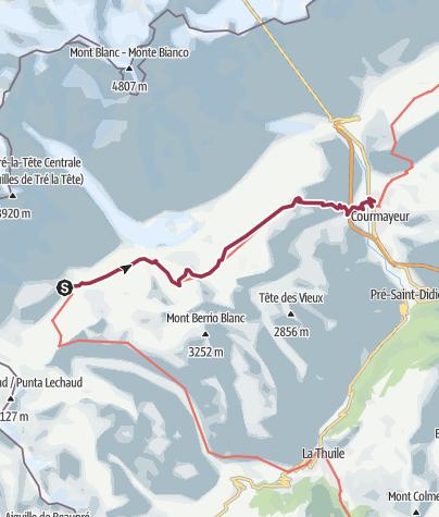 Map / TMB4 Elizabetha to Courmayeur