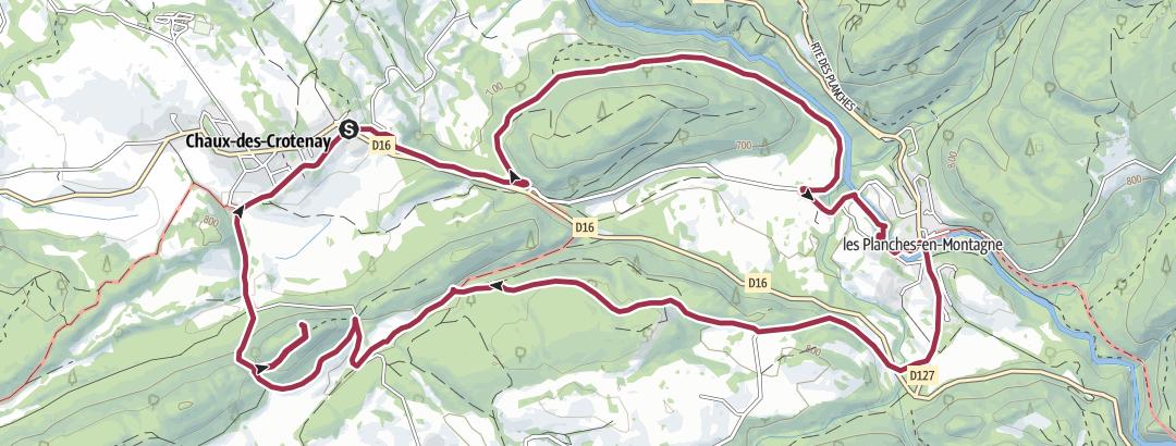 מפה / Chaux des Crotenay - Les Goulettes
