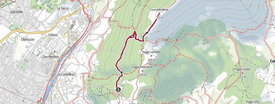 מפה / Percorso da Bifolchi - La Retaia
