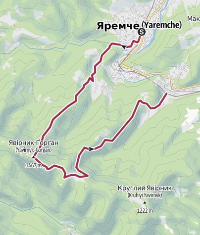 Map / Явірник
