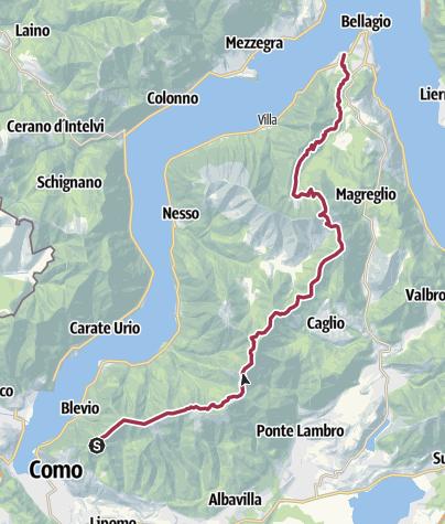 Map / BRUNATE CAO to BELLAGGIO