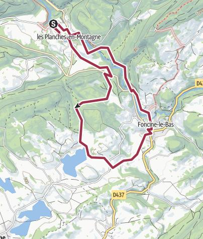 Map / Les Planches-en-Montagne, Franche-Comté, France