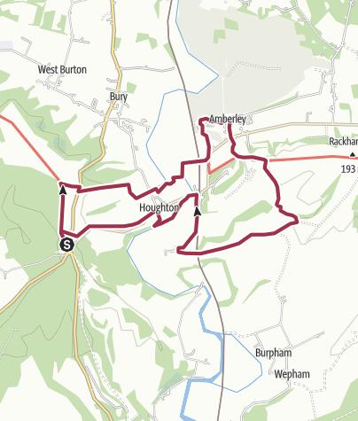 Map / Whiteways to Amberley 06/16