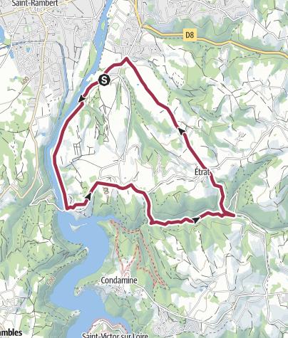 Map / Saint just, 11km