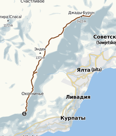 Map / Ай-Петри - Лопата
