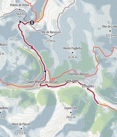 Map / Franc. 01 Gran S. Bernardo a Echevennoz