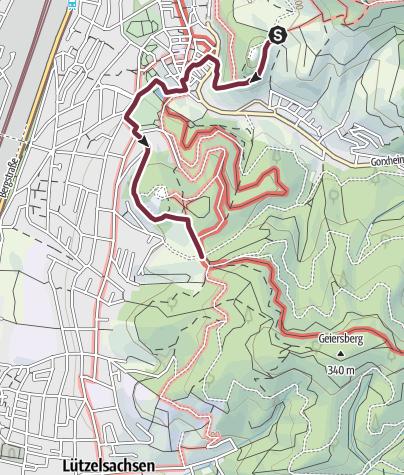 Karte / Blütenweg Bergstraße Variante 2 Weinheim