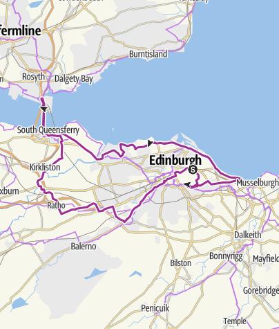 Map / Edinburgh Nightride 21/06/2015