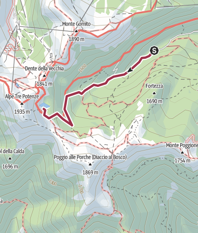 Map / Lago Nero (Abetone)
