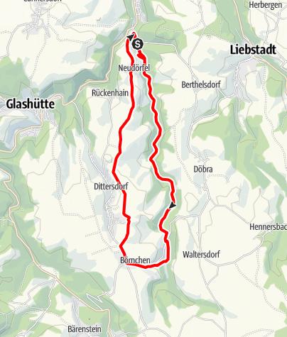 Karte / Trebnitzgrund (Glashütte)