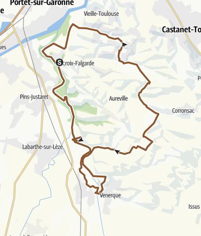 Map / Sur les bords de l'Ariège à Lacroix-Falgarde