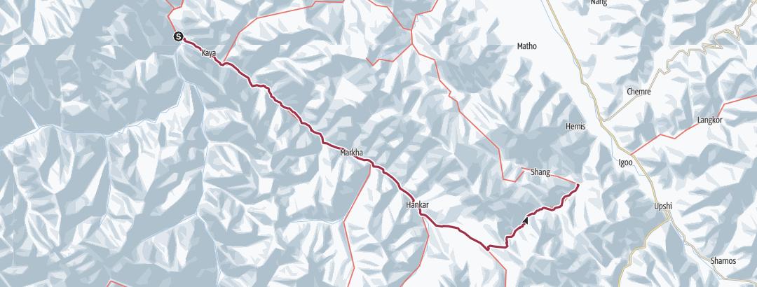Mapa / Markha Valley, Near Leh