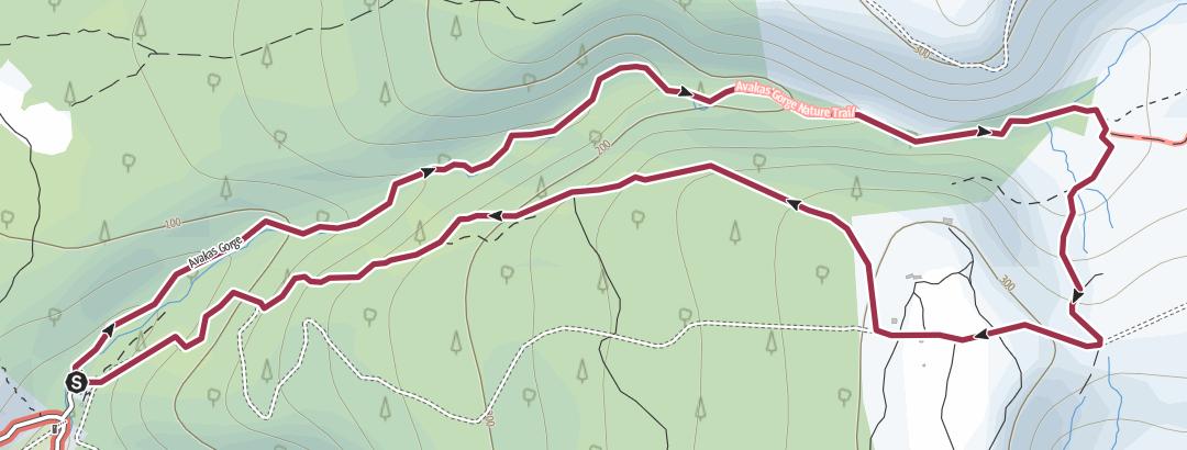 Térkép / Avakas Gorge