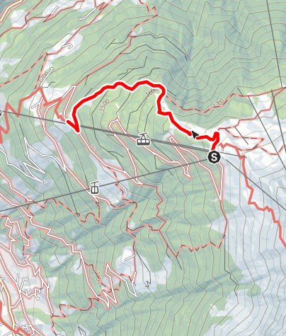 Karte / Kapell Bergstation - Kropfen über Waldweg (Waldwiesenweg)