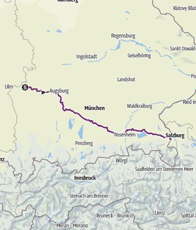 Karte / Via Julia - Auf der Spur der Römer einmal quer durch Bayern