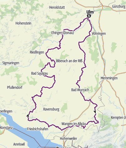 Map / Oberschwaben-Allgäu-Radweg