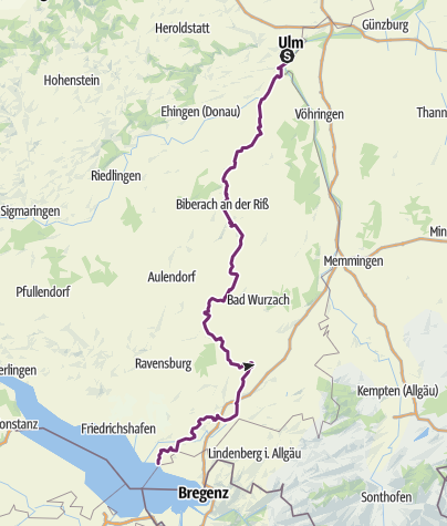 Map / Donau-Bodensee-Radweg