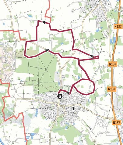Map / La Roche Qui Chome - Laillé (35)