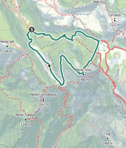 Cartina / Dal Pian del Keserle al Rifugio Lancia per Malga Zocchi