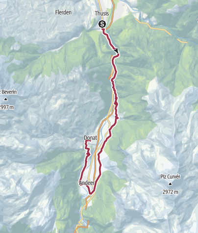 Karte / Trailrunning Transviamala