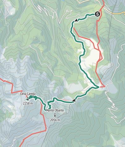 Cartina / Salita al gruppo del Carega