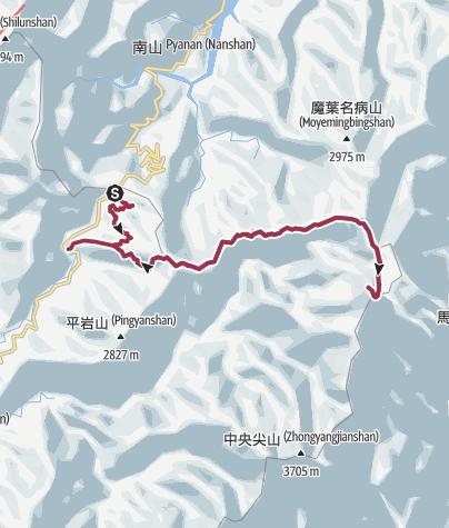 Map / 南湖大山