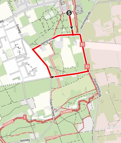 Karte / B1: Boßeln in Stukenbrock-Senne an der Ems-Erlebniswelt