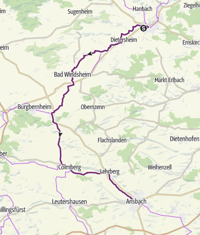Bad Ansbach schleifenroute de bad neustadt a d aisch ansbach etappe 92