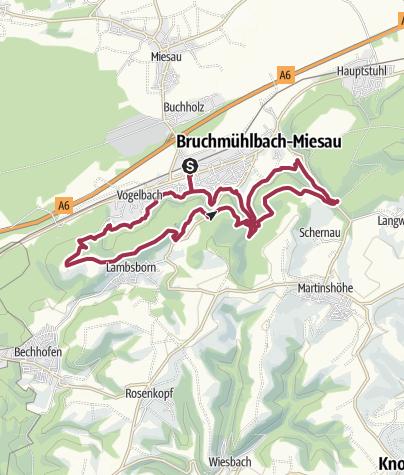 Karte / Bruchmühlbach-Miesau - Sagenhafter Waldpfad